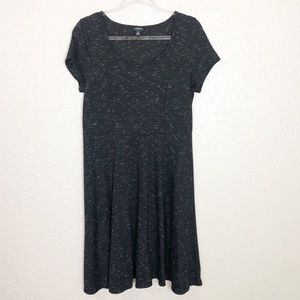 EUC Torrid Heather Black Fit & Flare Jersey Dress